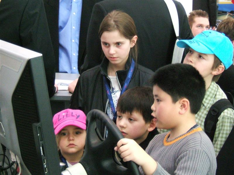 Kinder auf der Cebit 2008